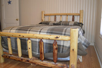 Cedar Log Spindle Bed