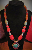 Tibetab Turquoise - Coral - Agate