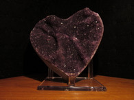 Uraguay Amethyst Crystal Heart -SOLD