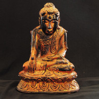 Burmese lacquer ware Buddha 19th century