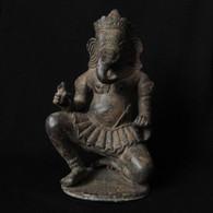Bronze Ganesha Solid Casting, 20th Century