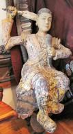 Lord Buddha cutting his hair Burma circa:1800-SOLD