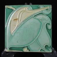 ART NOUVEAU MAJOLICA TILE, C1900, Manufactured in England, Colinial Burma # 4
