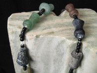 Roman Glass Beads on String, Afghanistan 2000 Years Old # 1