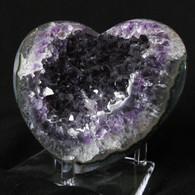 Uraguay Amethyst Crystal Heart # 2 -SOLD