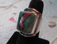CUPRITE/CHRYSOCOLLA RING Size 9 1/2