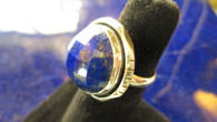 FACETED AAA AFGHANISTAN LAPIS lAZULI RING Size 8