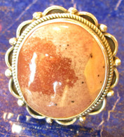 Large Rhodochrosite Ring 9