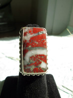 Red Jasper with Pyrite and Qurtz Inclusions Size 8 1/2