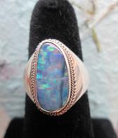 Lightning Ridge Opal Doublet #3 (Size 9 1/2)
