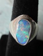 Lightning Ridge Opal Doublet #5 (Size 9 1/2)