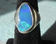 Lightning Ridge Opal Doublet #8 (Size 81/2)