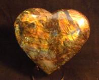 Labradorite Heart shape-SOLD