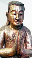 Carved Hardwood Burmese Monk