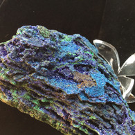 Azurite with Malachite 1200 grams-SOLD