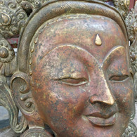Tara Mask Nepal Solid Copper 2600 grams