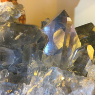 Super Clear Steel Blue Points Celestite Specimen Madagascar