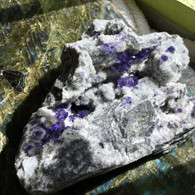 Purple Fluorite on Quartz.  1300 grams