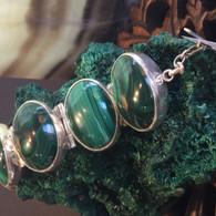 Sterling Silver Malachite Bracelet