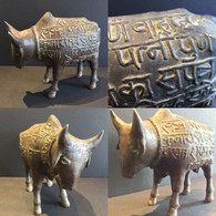 Bronze Sacred Cow - Temple Offering Nepal