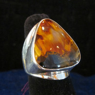 Pietersite Ring Sterling Silver Size 9