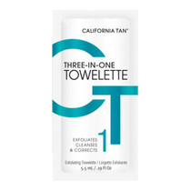 California Tan Three-In-One Towelette (Pack of Five)
