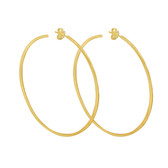 Large Gold Hammered Hoops