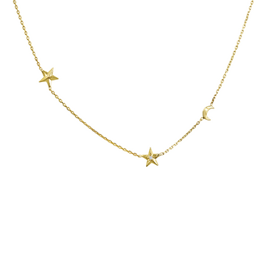 product nine necklace birds celestial