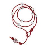 Berry Red Wrap Around Leather Atlantis Bracelet