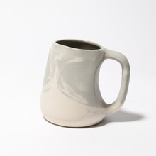 Grey white marbled mug