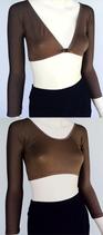 Basic 3/4 Sleeve Brown Jersey Sleevey Wonders
