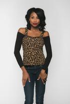 Bandeau Long Sleeve Black Jersey Sleevey Wonders