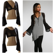 NEW reversible Bell under - Sleeve in Black Mesh transforms ANY sleeveless or strapless top! Boho Chic and romantic-can be worn casual, professional, and dressy clothing.Beautiful arm coverage for all the fun bohemian print tops and dresses out right now! Looks equally great under a tank top!