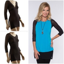 Sleevey Black Mesh Tunic Sleevey Wonders