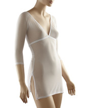 Sleevey White Mesh Tunic Sleevey Wonders