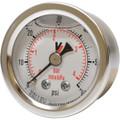Inlet Gauge, 0 to 60 psi, Glycerin Filled