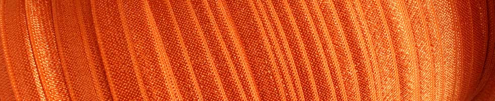 Solid Fold Over Elastic - Oranges