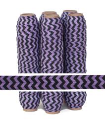 Purple and Black Chevron Fold Over Elastic