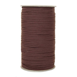 "Dark Brown Skinny Elastic 1/8"" 288 Yard Roll"