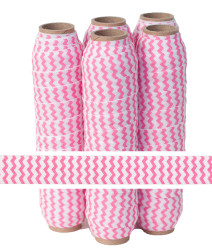 Bubblegum Chevron Fold Over Elastic