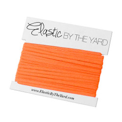 Neon Orange Skinny Elastic