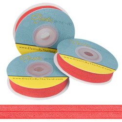 Hot Red Fold Over Elastic