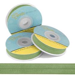 Moss Green Fold Over Elastic