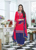 Elegant & Vibrant Pink Colored Premium Cotton Suit
