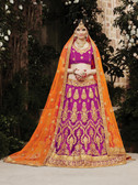 Incredibly Graceful Rani Colored Net Lehenga