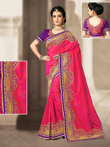 Charming & Vibrant Royal Red Colored 2 Ton Silk Saree