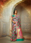 Graceful & Classy Multi Colored Top Dyed & Weaved Silk Saree