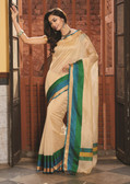 Elegant & Colorful Beige Colored Art Silk Pretty Saree