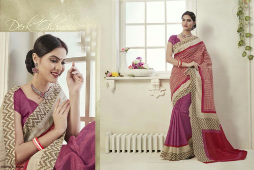Attractive & Graceful Multi Colored Fancy Art Silk Fabric Designer Saree