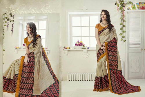 Attractive & Graceful Multi Colored Art Silk Designer Saree